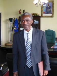 Le Recteur de l'Université de Lubumbashi, Gilbert Kishiba